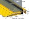 Stormguard Proline Am5ex Outward Threshold - 2000mm - Outward Opening Doors - Gold