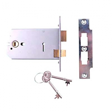 Union® 2077 Horizontal Sashlock - 124mm Case - 38-101.5mm Backset - Satin Stainless Steel