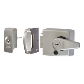 Era® Bs3621:2007 Double Locking Nightlatch - 60mm Backset - Satin Chrome