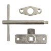 Jedo Budget Lock, Key And Escutcheon - Rim