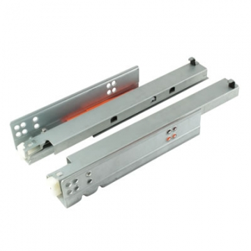 Motion Base Mounted Drawer Runner - Push-to-open - Double Extension - 300mm - Zinc
