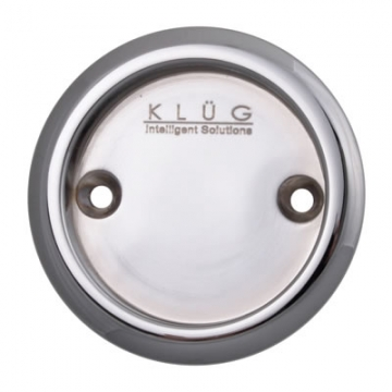 Kl▄g Round Screw Fixed Flush Handle - 63mm - Polished Chrome