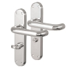 Carlisle Brass 19mm Return To Door Handle - Bathroom Turn & Release Set - Polished Chrome
