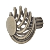 Touchpoint Cage Flat Cabinet Knob - 44mm - Polished Steel