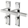 Carlisle Brass Stratus Door Handle - Bathroom Set - Polished Chrome
