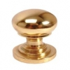 Touchpoint Victorian Turned Cabinet Knob - 50mm - Polished Brass