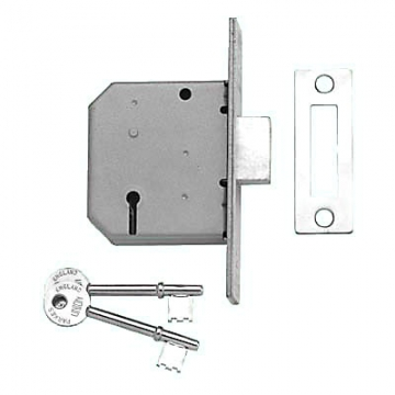 Union® 2177 3 Lever Deadlock - Key Number M136mm - 65mm Case - 44.5mm Backset - Satin Chrome