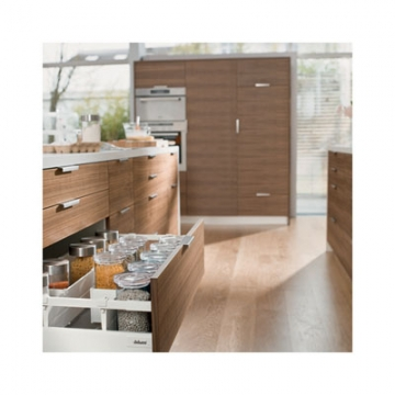 Blum Tandembox Antaro Pan Drawer - Blumotion (soft Close) - (h) 206 X (d) 450 X (w) 450mm - Grey