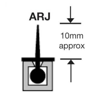 Sealmaster Arj Stop Seal - 2100mm - Satin Anodised Aluminium