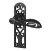 Elden Cottage Door Handle - Latch Set - Antique Black Iron