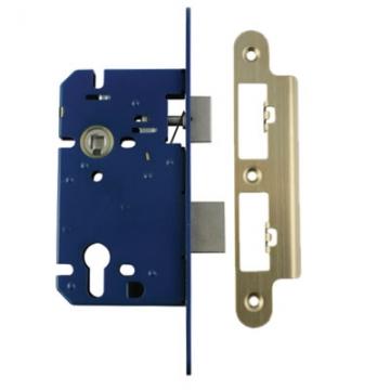 A-spec Architectural Din Euro Sashlock - 85mm Case - 60mm Backset - Radius - Pvd Brass