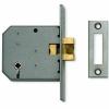 Union® 2426 Sliding Door Lock - 77.5mm Case - 57mm Backset - Satin Stainless