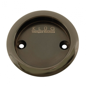 Kl▄g Round Screw Fixed Flush Handle - 63mm - Polished Black Nickel