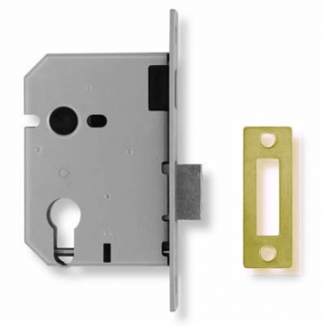 Union® 2149 Euro Deadlock - 65mm Case - 44.5mm Backset - Brass