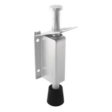 Altro Foot Operated Door Holder - 210mm - Satin Stainless Steel