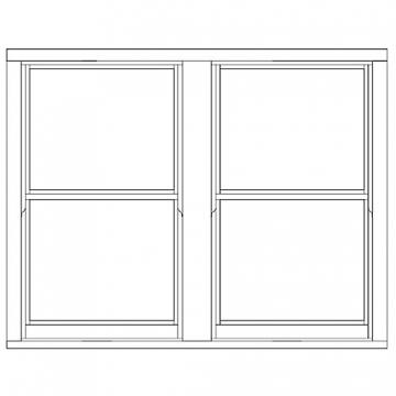 Softwood Sliding Sash 24mm Fully Glazed Window 1710mm X 1345mm Letvs1713