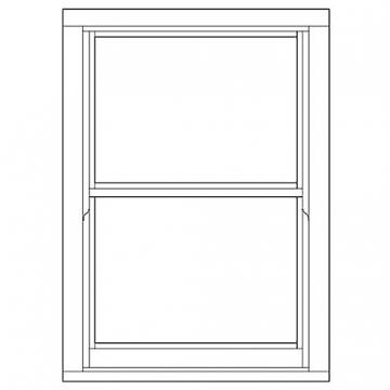 Softwood Sliding Sash 24mm Fully Glazed Window 855mm X 1195mm Letvs0812