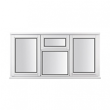 Stormsure Softwood Plain Casement 24mm Fully Glazed Window 1765 X 1195mm Lew312cvc
