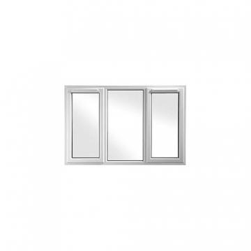 Upvc Window 3pcase Shd6 White 1770mm X 1040mm