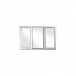 Upvc Window 3pcase Shd6 White 1770mm X 1040mm