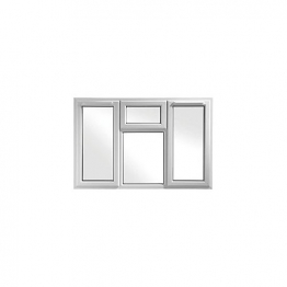 Upvc Window 4p Shield6 White 1770mm X 1040mm