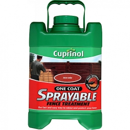 Cuprinol One Coat Sprayable Fence Treatment Rich Cedar 5l