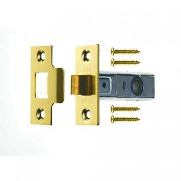 4trade Tubular Mortice Latch Brass 76mm