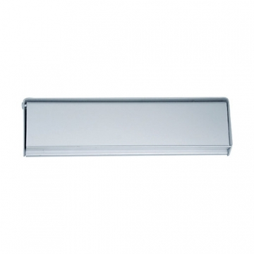4trade Letter Plate Face Fix Satin Anodised Aluminium 250mm X 75mm
