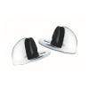 4trade Door Stop Oval Satin Anodised Aluminium Pack Of 2