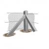 Supreme Concrete Chainlink Corner Post 6'9inch Chk206c