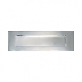 4trade Letter Plate Satin Nickel 250mm X 75mm