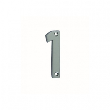 4trade Numeral 1 Face Fix Chrome Plated 75mm
