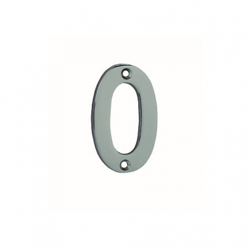 4trade Numeral 0 Face Fix Chrome Plated 75mm