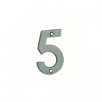 4trade Numeral 5 Face Fix Chrome Plated 75mm