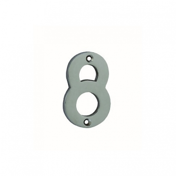 4trade Numeral 8 Face Fix Chrome Plated 75mm
