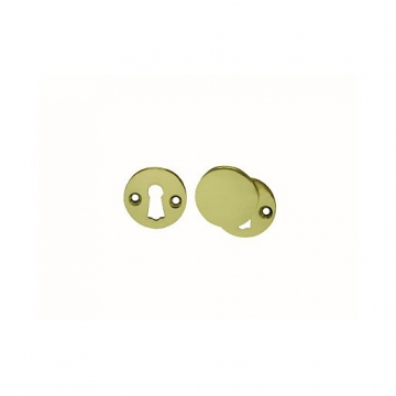 4trade Brass Open & Covered Escutcheon 33mm Pack Of 2
