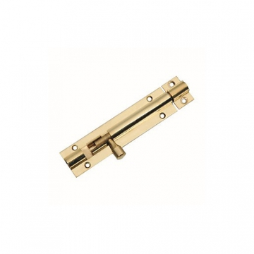 4trade Barrel Bolt Straight Brass 100mm