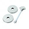 Urfic Escutcheon Bathroom Handle Polished Nickel
