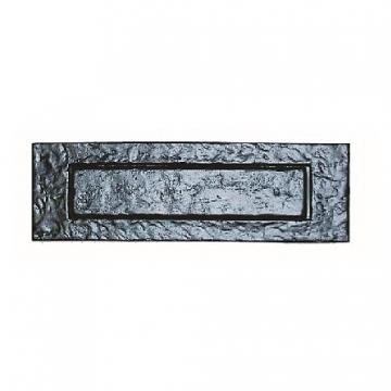 4trade Black Antique Letter Plate 254mm X 75mm