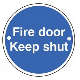 Fd118 Fire Door Keep Shut Sign Pvc 70mm