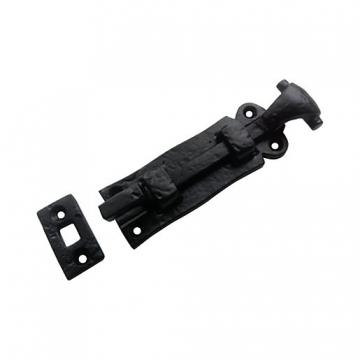 4trade Black Antique Necked Door Bolt 102mm