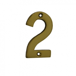 4trade Numeral 2 Face Fix 75mm Brass