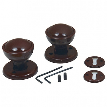 4trade Rim/mortice Knob Set Brown