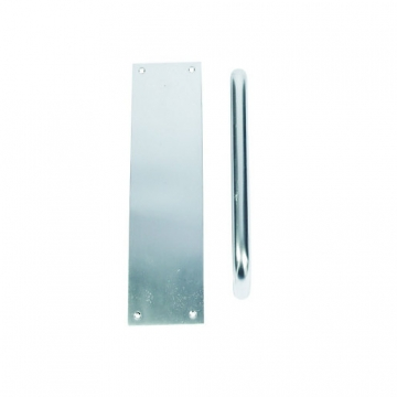Pull Handle Flat Plate Satin Anodised Aluminium 229mm
