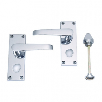 4trade Victorian Lever Privacy Chrome