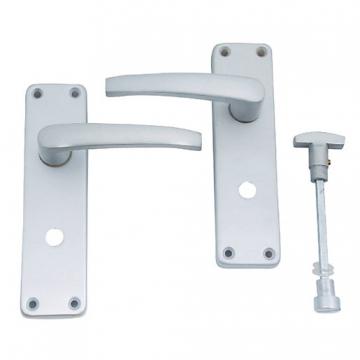 4trade Manila Lever Bathroom Furniture Satin Anodised Aluminium
