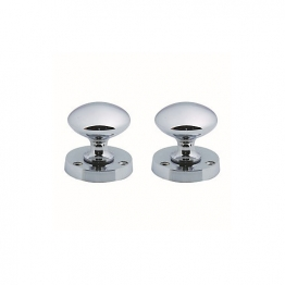 4trade Chrome Plated Mortice Knobset 57mm