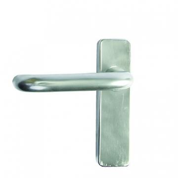 Concealed Fix Plate Latch Handle Satin Anodised Aluminium19mm