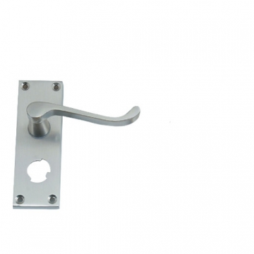 4trade Satin Nickel Scroll Privacy Lever Furniture