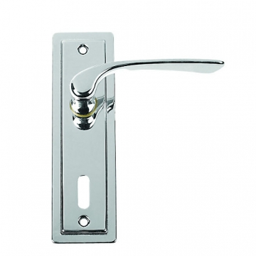 Urfic Como Lever Lock Polished Nickel